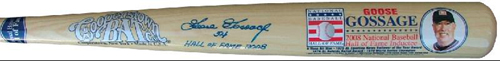 Autographed Limited Edition Commemorative HOF Bat